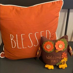 WELCOME FALL 🦉 OWL PILLOW
